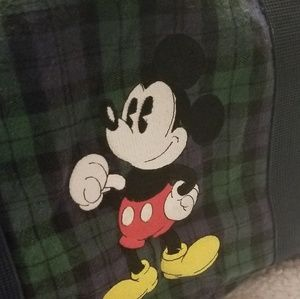 3c8cd98e613c Disney Bags - Vintage Disney Mickey Mouse flannel duffle bag